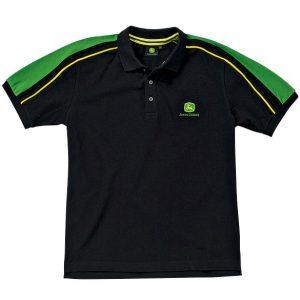 Majica Polo - crna sa zelenim rukavima