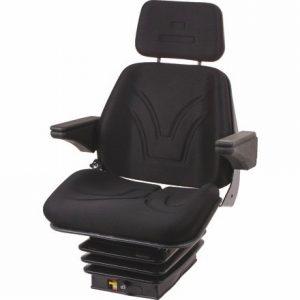 Sitz Luftfederung schmal Stoff schwarz