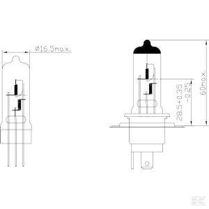 Žarulja B1210 Bulb 12V 60/55W H4 P43t