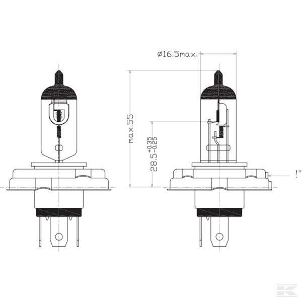 Žarulja B1239 Bulb 12V 60/55W H4 P45t