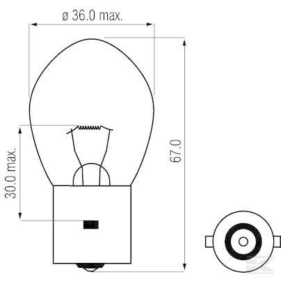 Žarulja B1263 Bulb 12V 35W BA20s