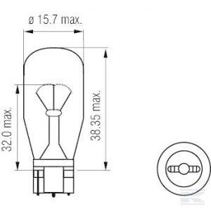 Žarulja B1241 Bulb 12V 21W W2,1x9,5d