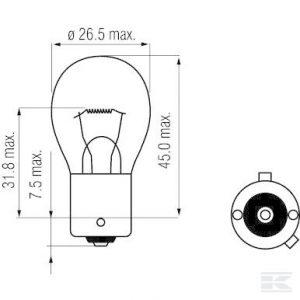 Žarulja B1219 Bulb 12V 21W BAU15s