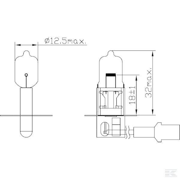 Žarulja B1206 Bulb 12V 55W H3