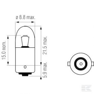 Žarulja B2434 Bulb 24V 4W BA9s