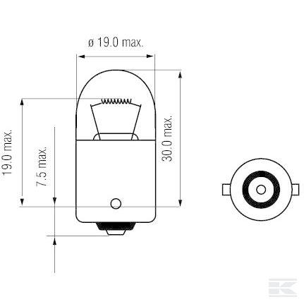 Žarulja B2411 Bulb 24V 5W BA15s