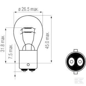 Žarulja B2422 Bulb 24V 21/5W BAY15d