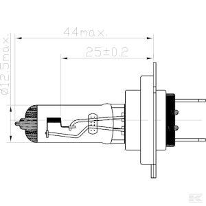 Žarulja B2423 Bulb 24V 70W PX26D H7