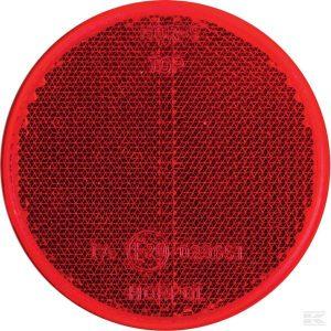 Katadiopter, crveni, okrugli LA75024