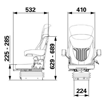 Sjedalo Grammer Compacto Comfort S umjetna koža crno 1081368