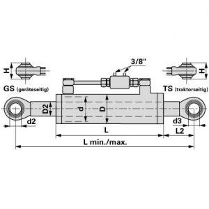 Hidraulični topling Kat.1 410-570mm sa 2 oka
