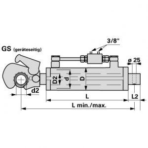 Hidraulični topling Kat.3 607-867mm sa kukom i oko