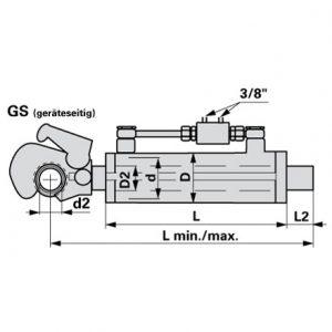 Hidraulični topling Kat.2 552-755mm sa navoj