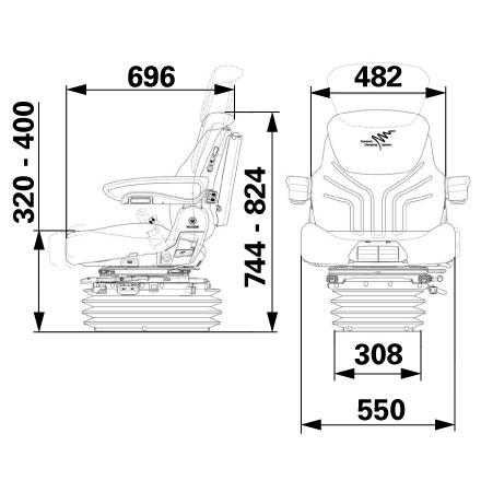 Sjedalo Grammer Maximo Dynamic tkanina Agri 1288545