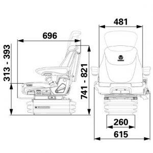 Sitz Grammer Maximo Evolution Dynamic 0/22 Ohm 1153460