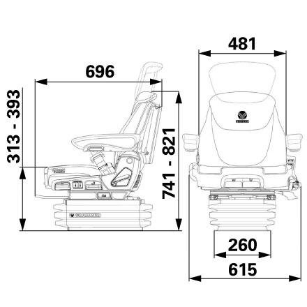 Sitz Grammer Maximo Evolution Dynamic 122/510 Ohm 1189902