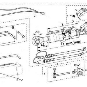 Hidraulični topling Kat.2/63 567mm 204864