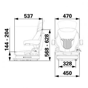 Sjedalo Grammer Primo Professional M tkanina Agri 1291749