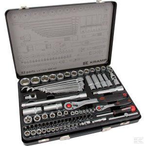 "Nasadni ključevi set 1/4"" + 1/2"" 82 djelova 180482420KR Combination socket set 1/4"" + 1/2"" 82-pieces"