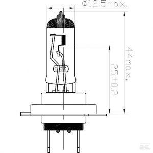 Žarulja B2446 Bulb 24V 75/70W H4 P43t