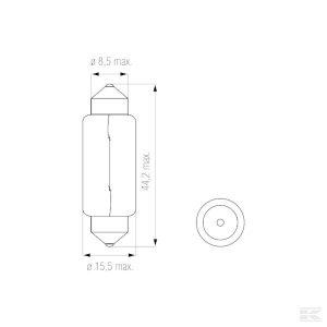 Žarulja B2447 Bulb 24V 18W SV8,5