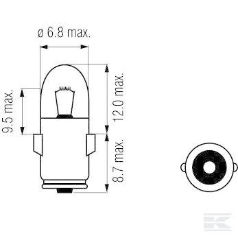 Žarulja B2443 Bulb 24V 3W BA7s