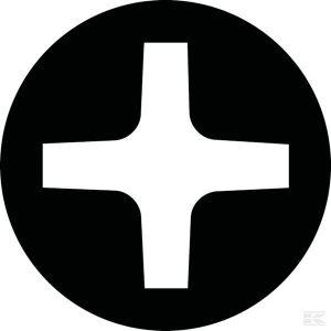 Odvijač križni PH0 x 75 mm 180802200075KR Cross-head screwdriver PH0 x 75 mm