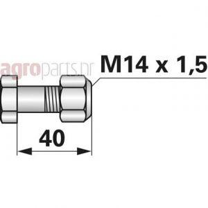 M14x1,5x40-20mm